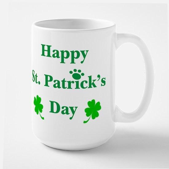 Happy St. Patricks Day W/Paw 209 Mugs