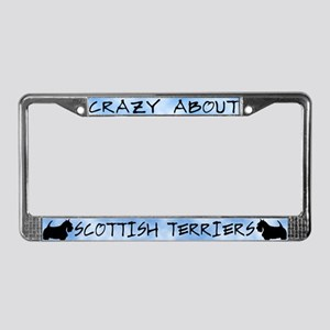 Crazy About Scottish Terriers License Plate Frame