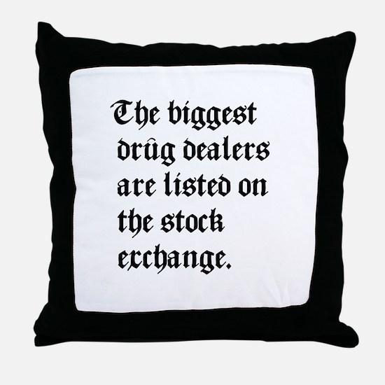 Biggest Dealers Throw Pillow