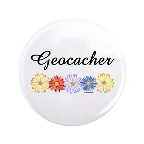 """Geocacher Asters 3.5"""" Button (100 pack)"""