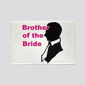 Silhouette Brother of the Bride Rectangle Magnet