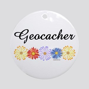 Geocacher Asters Ornament (Round)