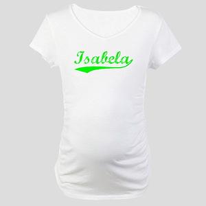 Vintage Isabela (Green) Maternity T-Shirt