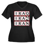Iran 2009 Women's Plus Size V-Neck Dark T-Shirt