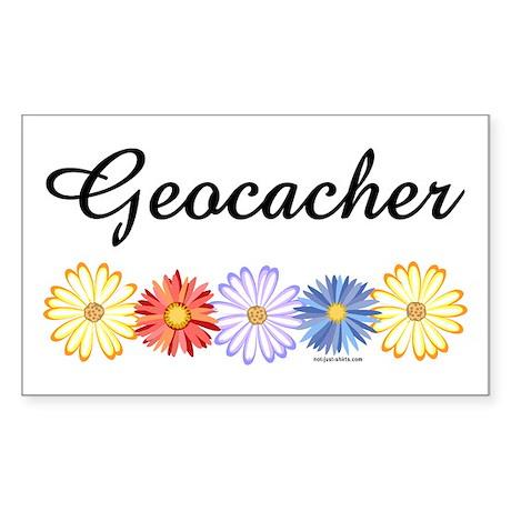 Geocacher Asters Rectangle Sticker 10 pk)