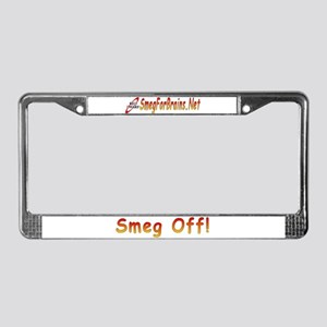 Smeg Off! License Plate Frame