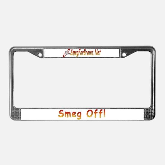 Smeg Off! License Plate Frame