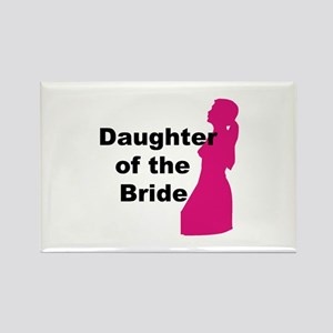 Silhouette Daughter of the Bride Rectangle Magnet