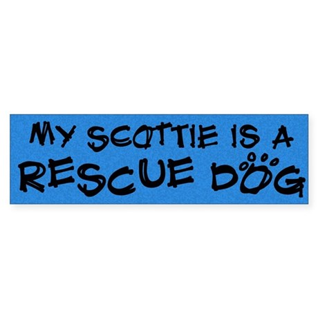 Rescue Dog Scottie Bumper Sticker