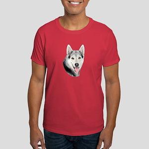 Siberian Huskie Picture Dark T-Shirt