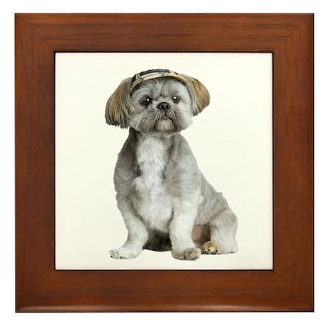 Shih Tzu Picture - Framed Tile