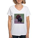 Strutting Tom Turkey Women's V-Neck T-Shirt