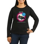 Dolphin Lone Star Women's Long Sleeve Dark T-Shirt