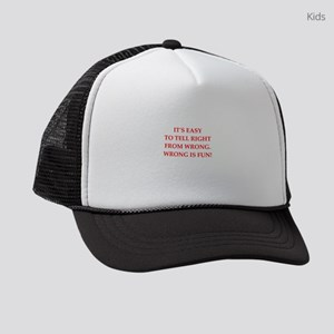 Funny joke Kids Trucker hat