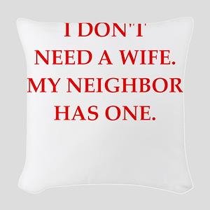 neighbor Woven Throw Pillow