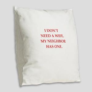 neighbor Burlap Throw Pillow