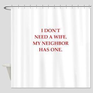 neighbor Shower Curtain