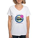 Dolphin Niecey Women's V-Neck T-Shirt