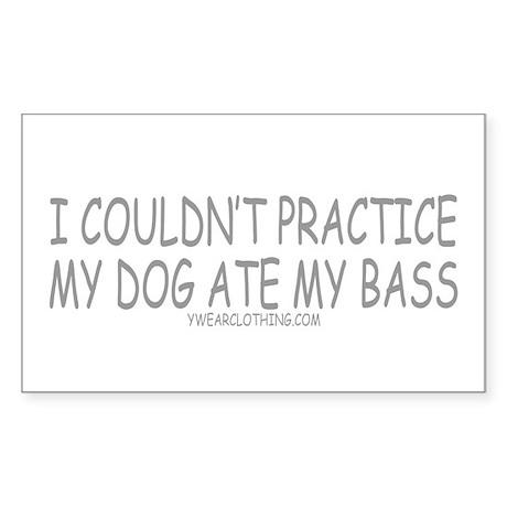 Dog Ate Bass Rectangle Sticker