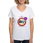 Dolphin Billy Women's V-Neck T-Shirt