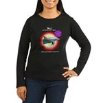 Dolphin Billy Women's Long Sleeve Dark T-Shirt