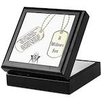 Masons Dog Tag Poem Keepsake Box