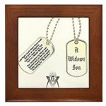 Masons Dog Tag Poem Framed Tile