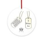Masons Dog Tag Poem Ornament (Round)