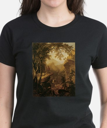 Kindred Spirits by Durand 1800s Women's Dark T-Shi