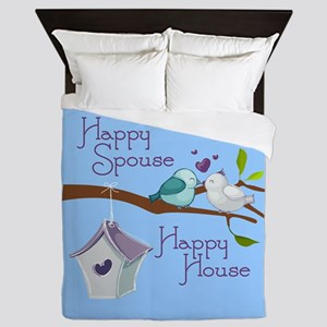 Happy Spouse Queen Duvet