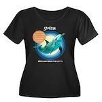 Dolphin Stefran Women's Plus Size Scoop Neck Dark