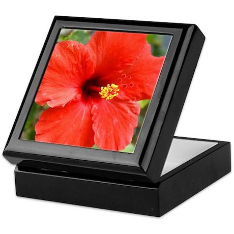 Red Hibiscus Keepsake Box