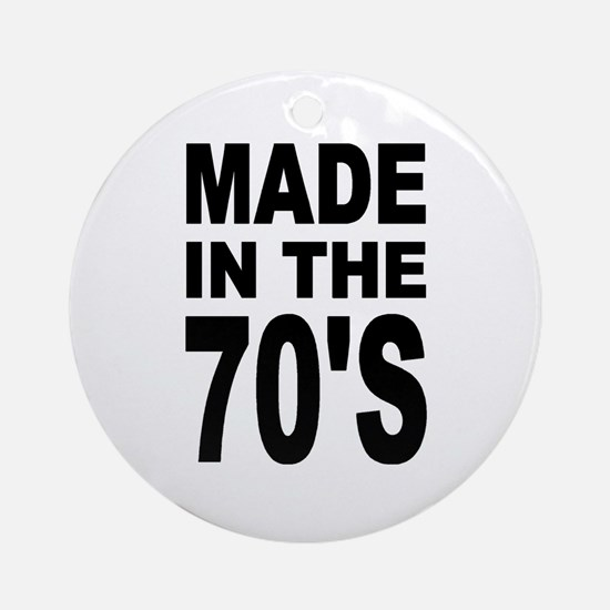 'Made in the 70's' Ornament (Round)