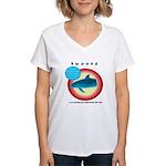 Dolphin Swoosh Women's V-Neck T-Shirt