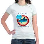 Dolphin Swoosh Jr. Ringer T-Shirt