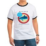 Dolphin Swoosh Ringer T
