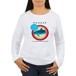 Dolphin Swoosh Women's Long Sleeve T-Shirt