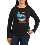 Dolphin Swoosh Women's Long Sleeve Dark T-Shirt