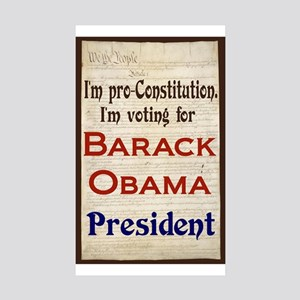 Obama No. 44 Rectangle Sticker 10 pk)