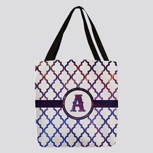 Galaxy Monogram: Letter A Polyester Tote Bag