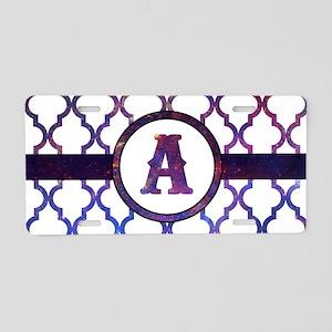 Galaxy Monogram: Letter A Aluminum License Plate
