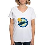 Dolphin Vincent Women's V-Neck T-Shirt