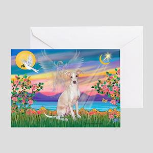 Guardian Angel / Ital Greyhound Greeting Card
