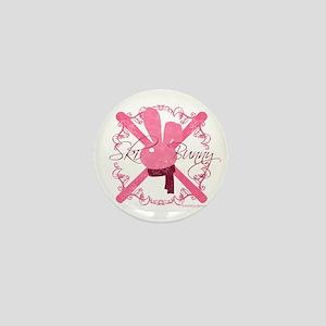 Ski Bunny Mini Button