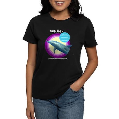 Dolphin White Blotch Women's Dark T-Shirt