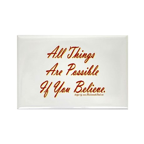 All Things Possible Rectangle Magnet (10 pack)