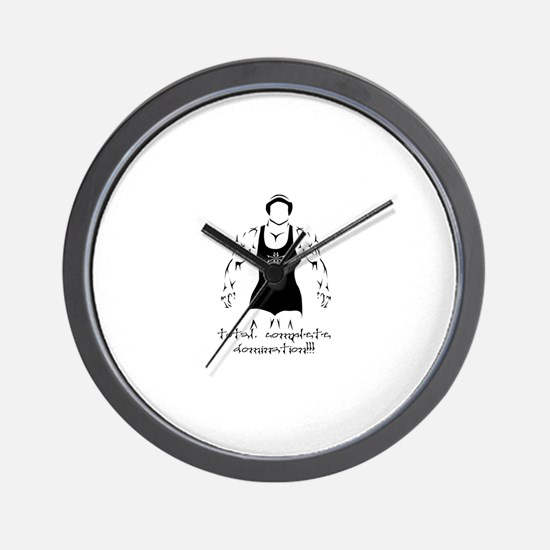 WRESTLING-TOTAL COMPLETE DOMI Wall Clock