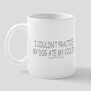 Dog Ate Violin Mug