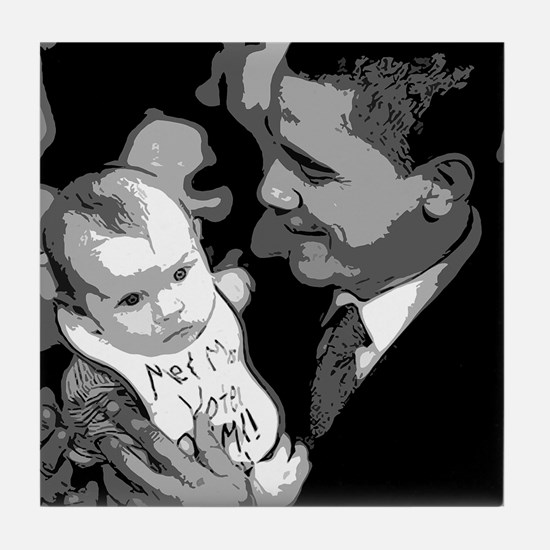 Me and Mom Vote Obama Tile Coaster