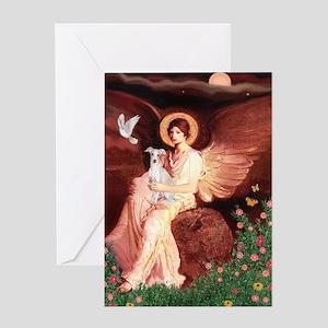 Seated Angel / Italian Greyhound Greeting Card
